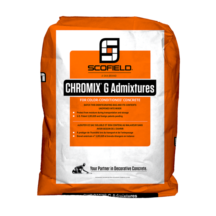 CHROMIX® G Admixtures for Color-Conditioned® Concrete