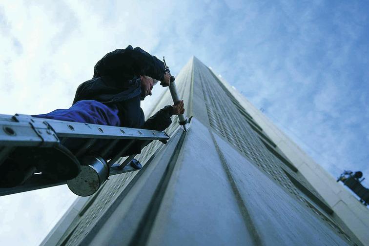 concrete facade joint sealing