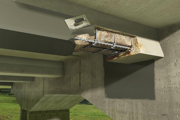 Concrete repair mortars to repair, restore and rehabilitate concrete structures.