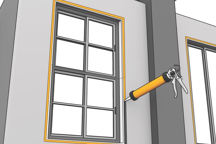 ยาแนวรอยต่อแผ่นพรีคาส กรอบประตู หน้าต่าง