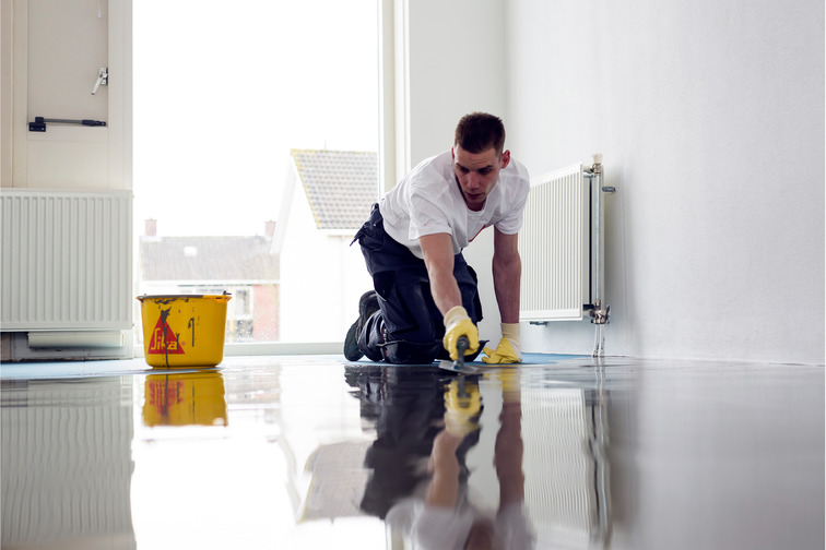 Floor primer leveling & screed