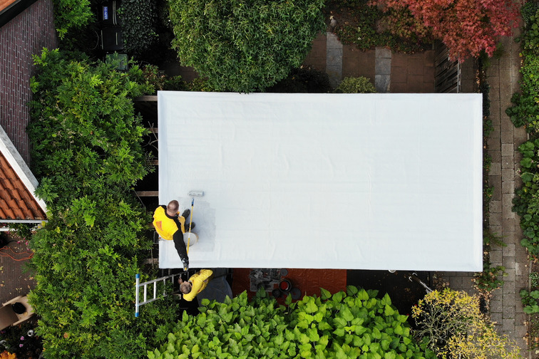 Liquid-applied membrane is a fully-bonded, liquid-based coating suitable for waterproofing and roofing applications.