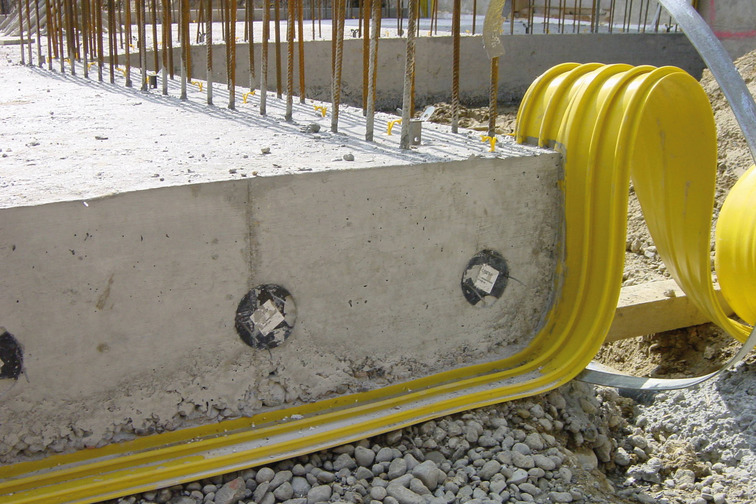 Joint waterproofing with Sika® Waterbars for joints