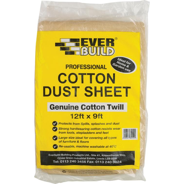 EVERBUILD® COTTON DUST SHEET