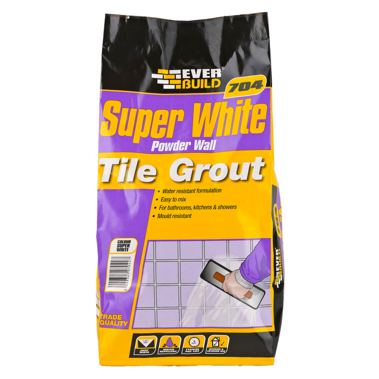 EVERBUILD® 704 Super White Powder Wall Tile Grout
