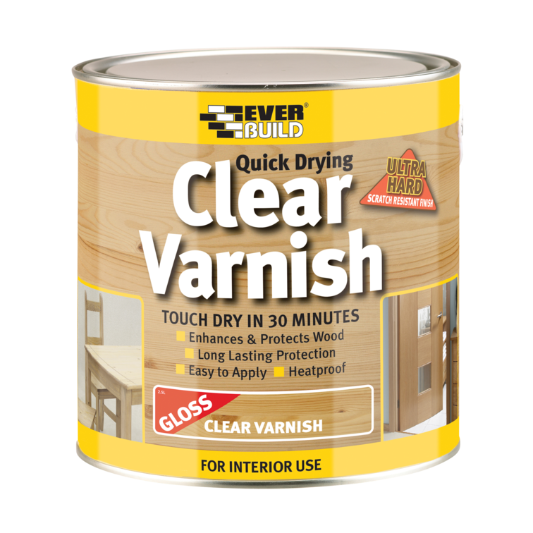 EVERBUILD® Quick Drying Clear Varnish