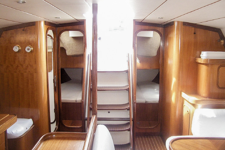 Cabine on a leisure boat