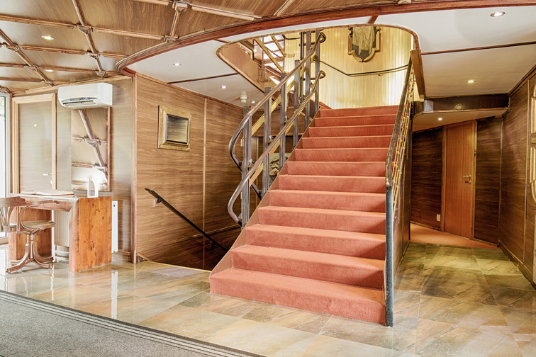 Stairs with carpet