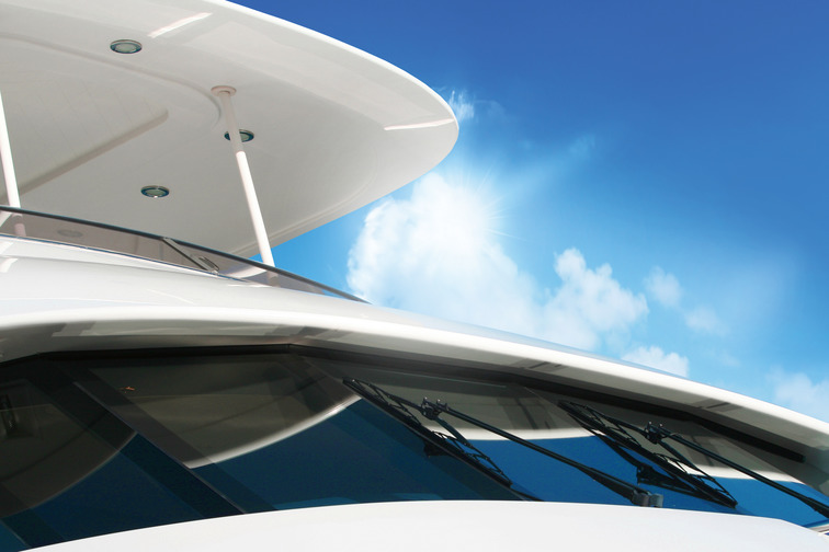 Front window of a leisure boat