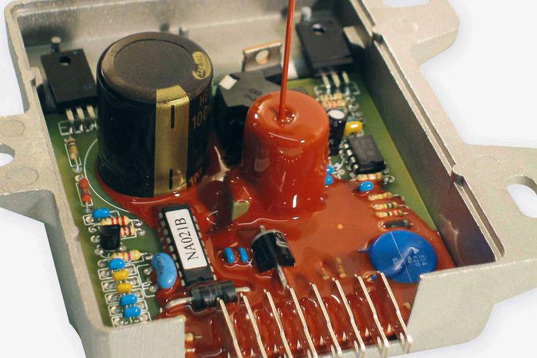 Electronic potting