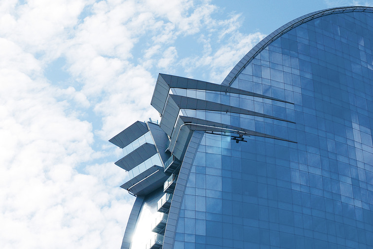 Building with glass facade