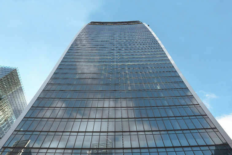 Skyscraper, building with glass facade