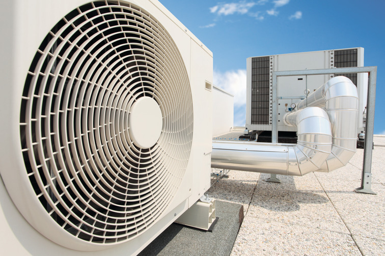 HVAC equipment on a roof