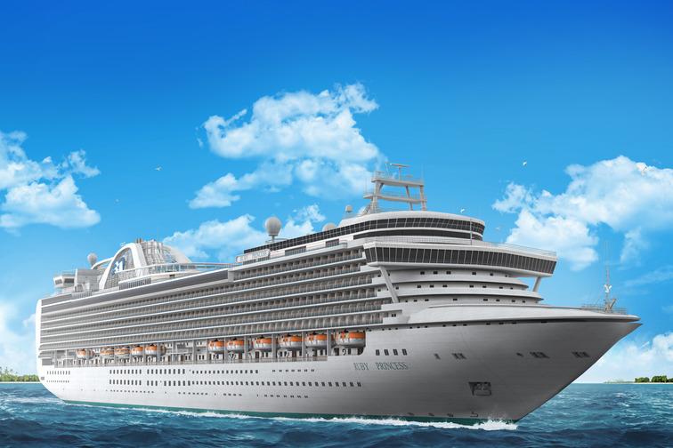 Illustration of a cruise ship