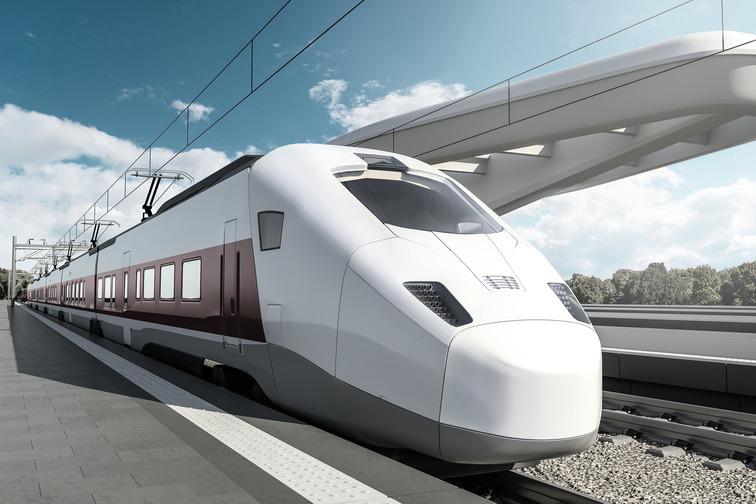 Illustration of a fast train